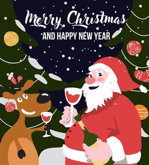 创意圣诞老人插画图片