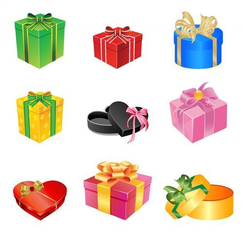 圣诞礼物盒卡通图片