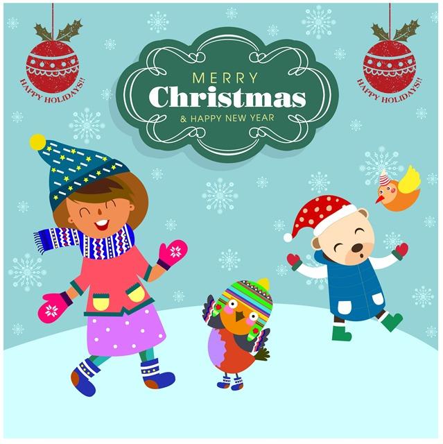 圣诞节手绘贺卡图片