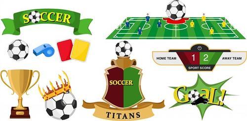 多款足球图标