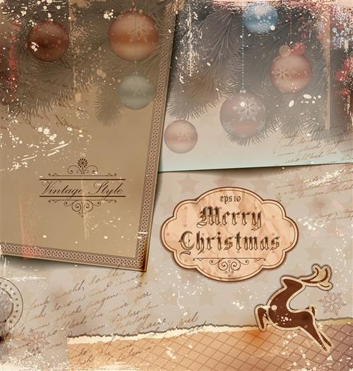 圣诞贺卡设计图片