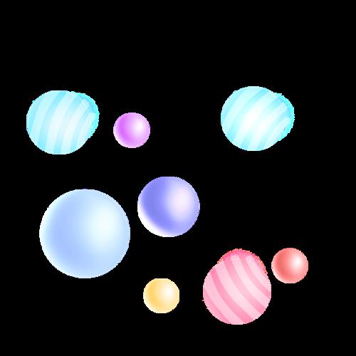 彩色漂浮圆球电商元素