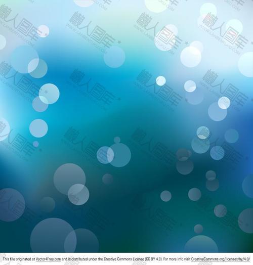 蓝色散焦效果矢量背景
