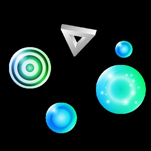 彩色电商漂浮元素