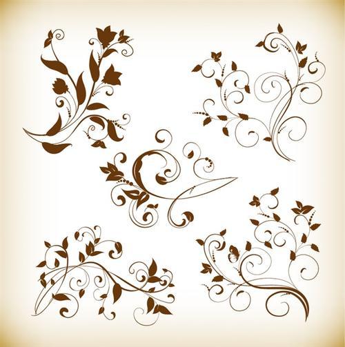 欧式花纹装饰素材