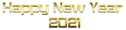 2021金色新年快乐字体设计