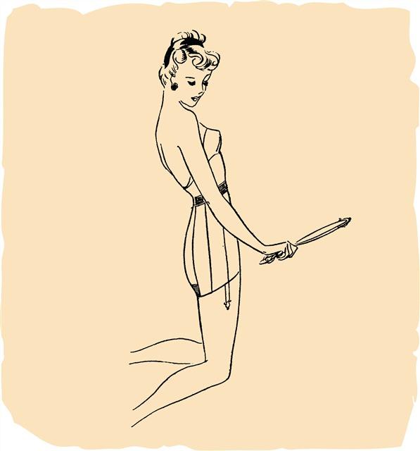 美丽女人身体曲线素描