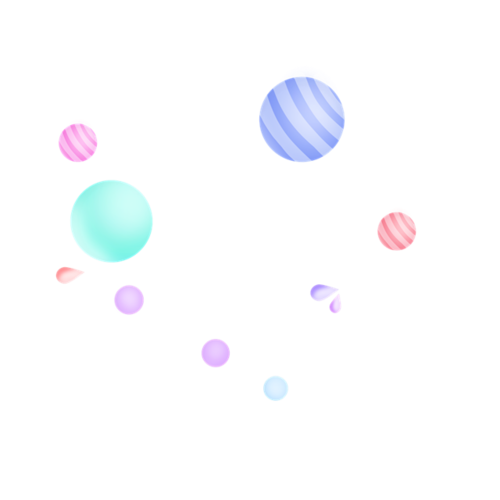 彩色漂浮电商气球元素