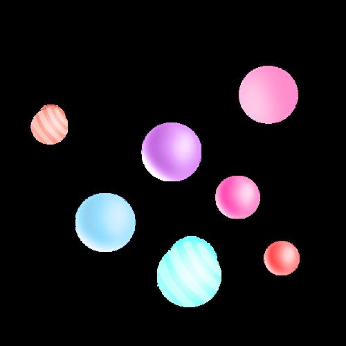 动感球体电商漂浮元素