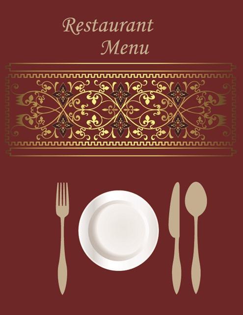 高档西餐美食画册封面