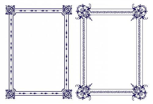紫色花藤装饰花纹设计图案