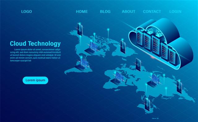 高科技线条大屏登陆页面