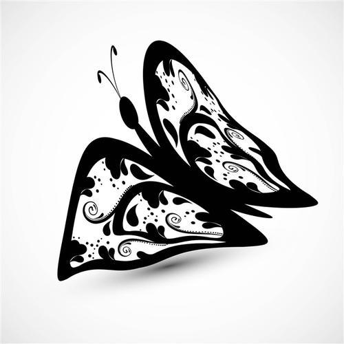 蝴蝶抽象矢量图素材