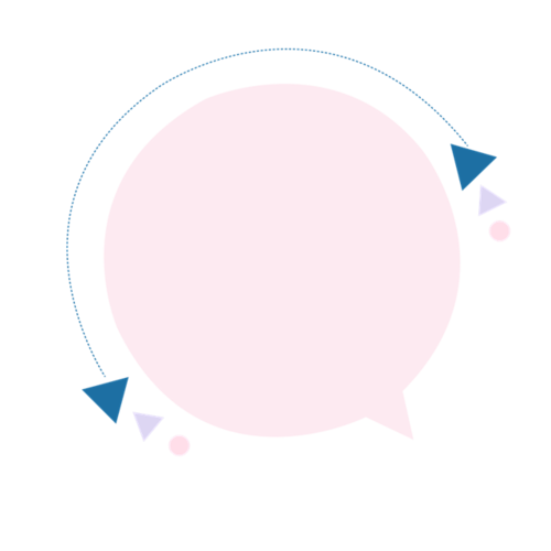 粉色电商气泡装饰边框图片