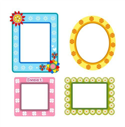 各色款式镜子边框图案