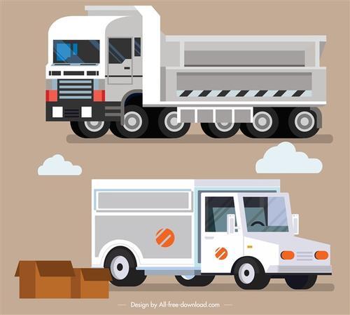 货车和卡车矢量图