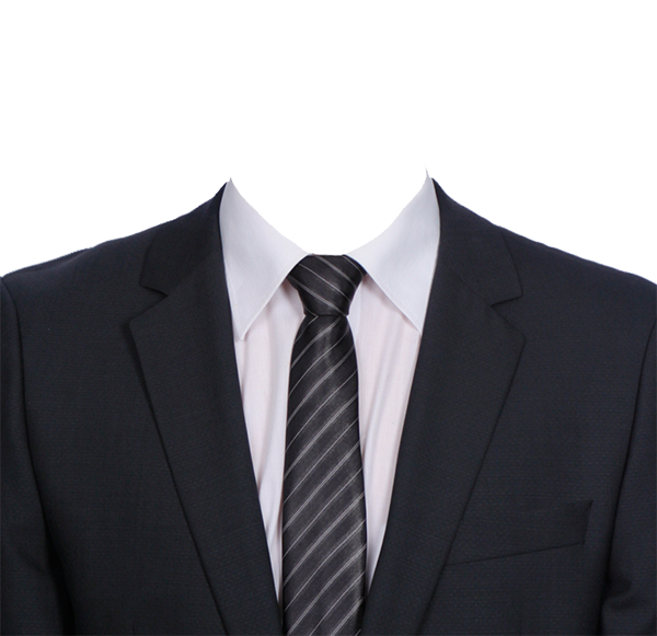 黑色西服白衬衫证件照