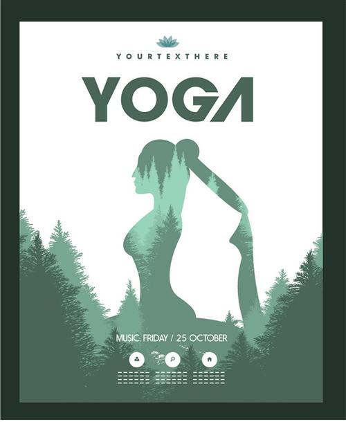 瑜伽广告宣传单