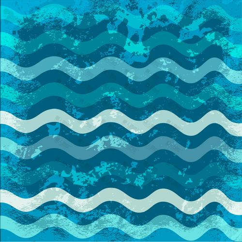 蓝色波浪纹背景
