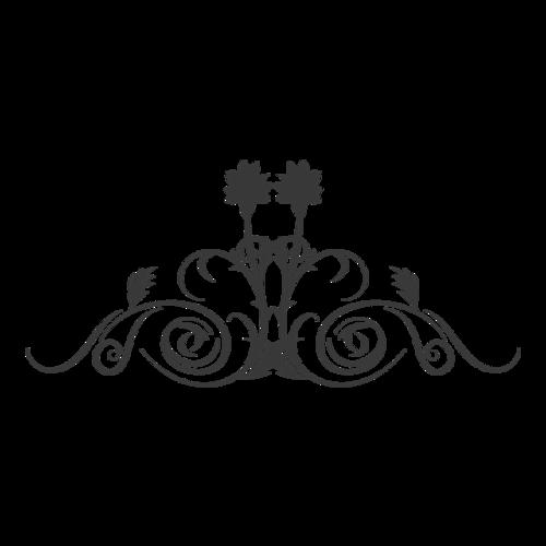 黑色矢量复古花纹边框