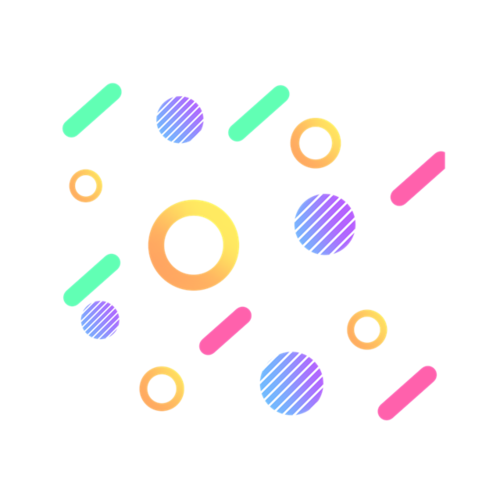 电商气球漂浮物彩色背景图片