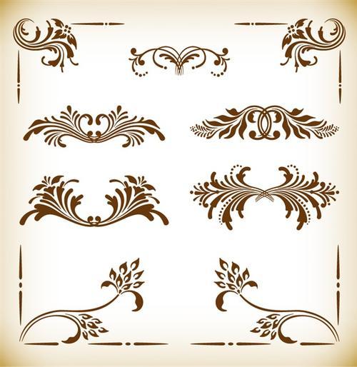 复古边框装饰图案
