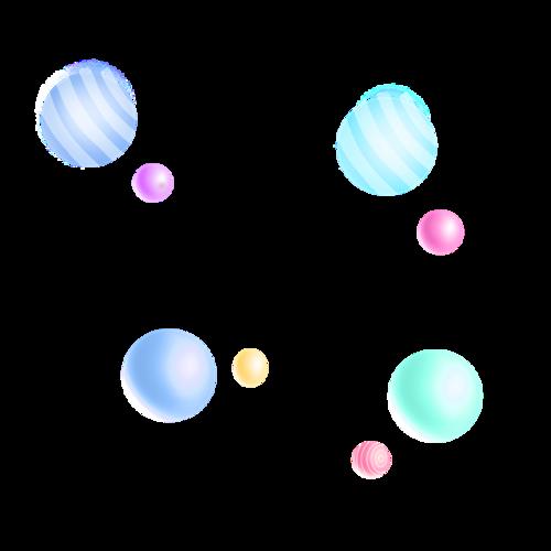 C4D电商漂浮球体元素