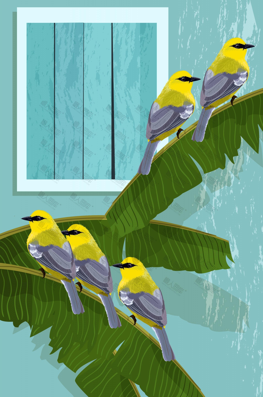 植物动物背景图