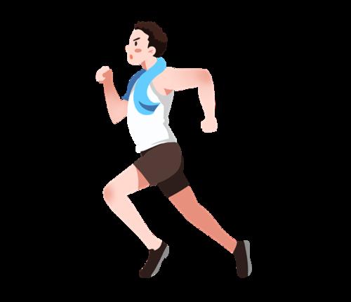 跑步人物图片