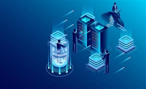 蓝色未来科技矢量图