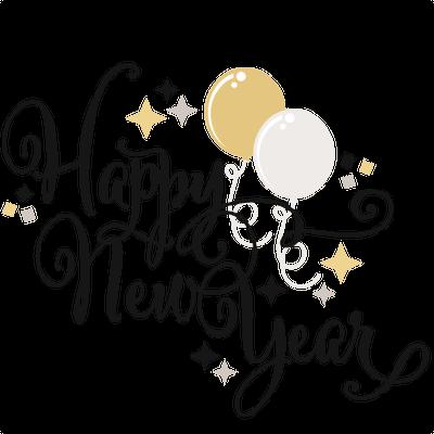 新年快乐气球装饰英文