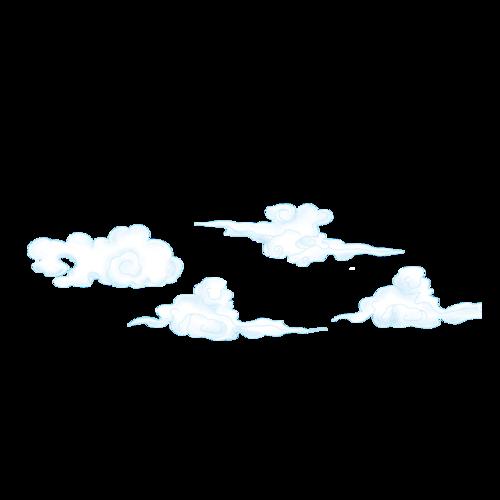 白色云彩图片