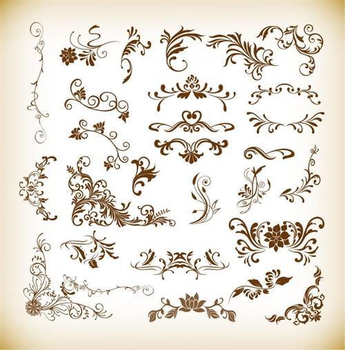 欧式复古花纹背景