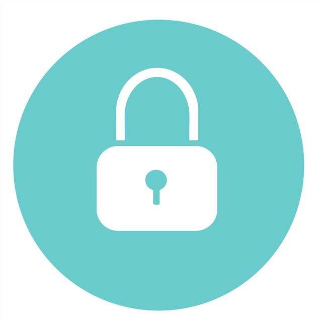安全锁卡通图标