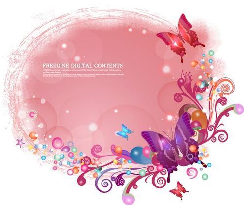 蝴蝶装饰边框花纹图片