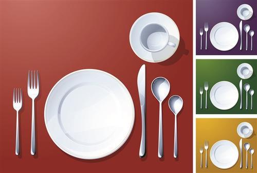 厨房用品餐具元素