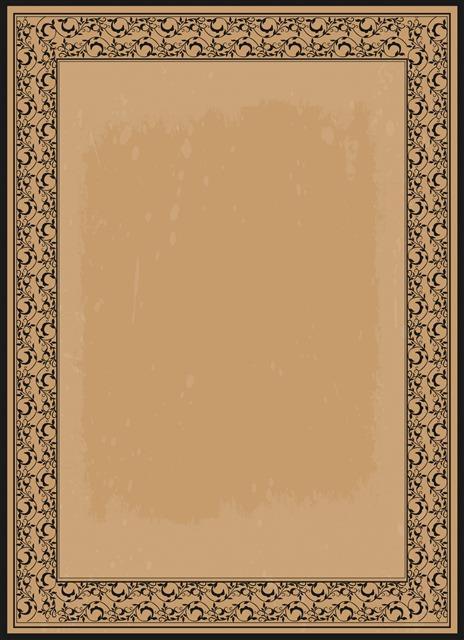 欧式复古证书边框
