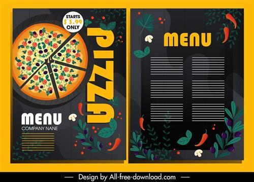 披萨美食菜单排版模板