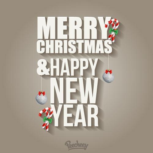 圣诞节快乐英语艺术字