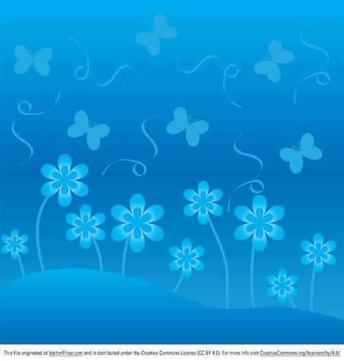 蓝色小花背景