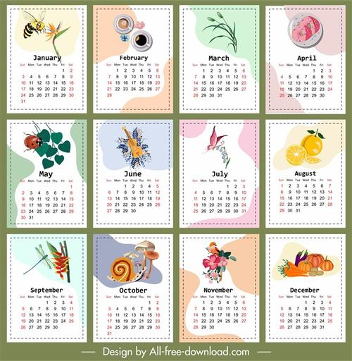 儿童手绘日历图片