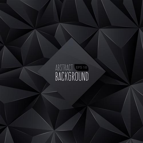 黑色几何背景图片