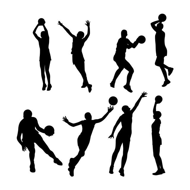 篮球运动员剪影