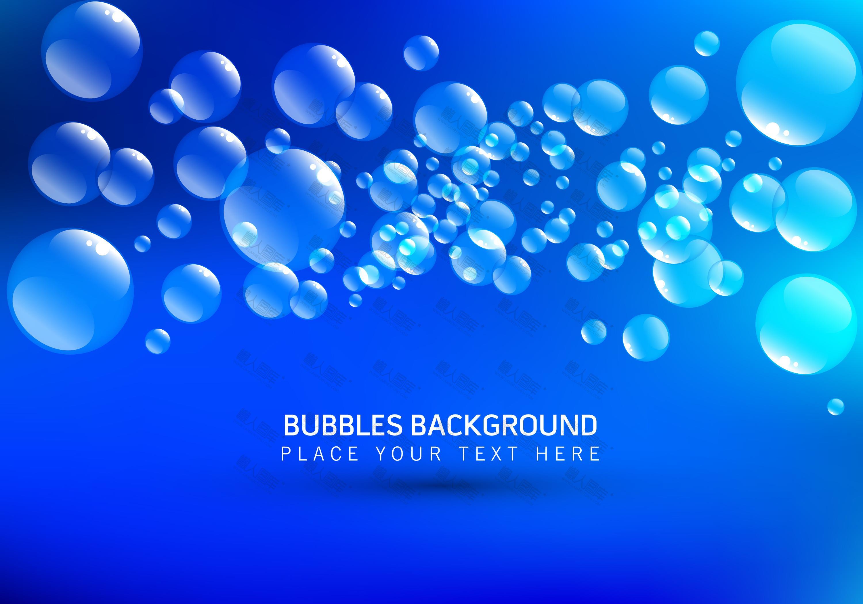 蓝色泡泡背景图片