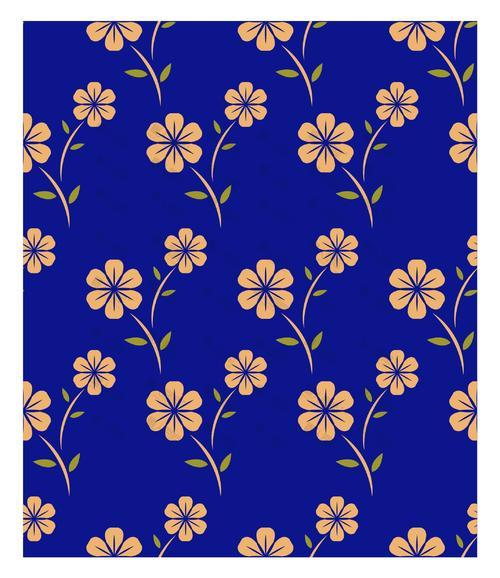花卉蓝底背景图