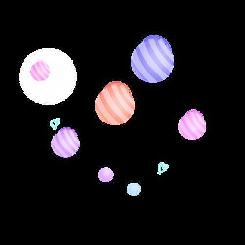 电商彩球漂浮图片