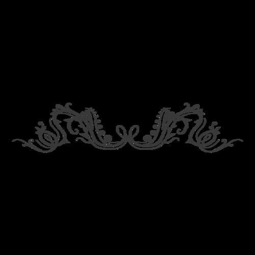 黑底欧式花纹标题边框