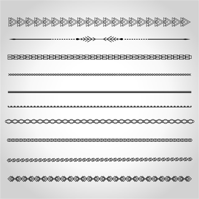 简单线条创意图案