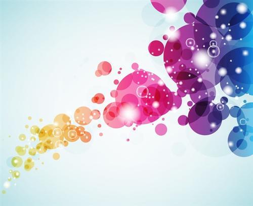彩色气泡背景