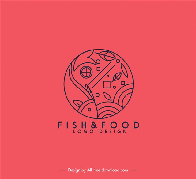 海鲜食品logo标志